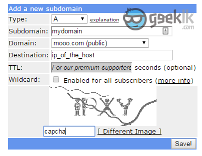 how to add a dynamic ip to a domain